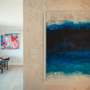 tableau peinture maison hotes